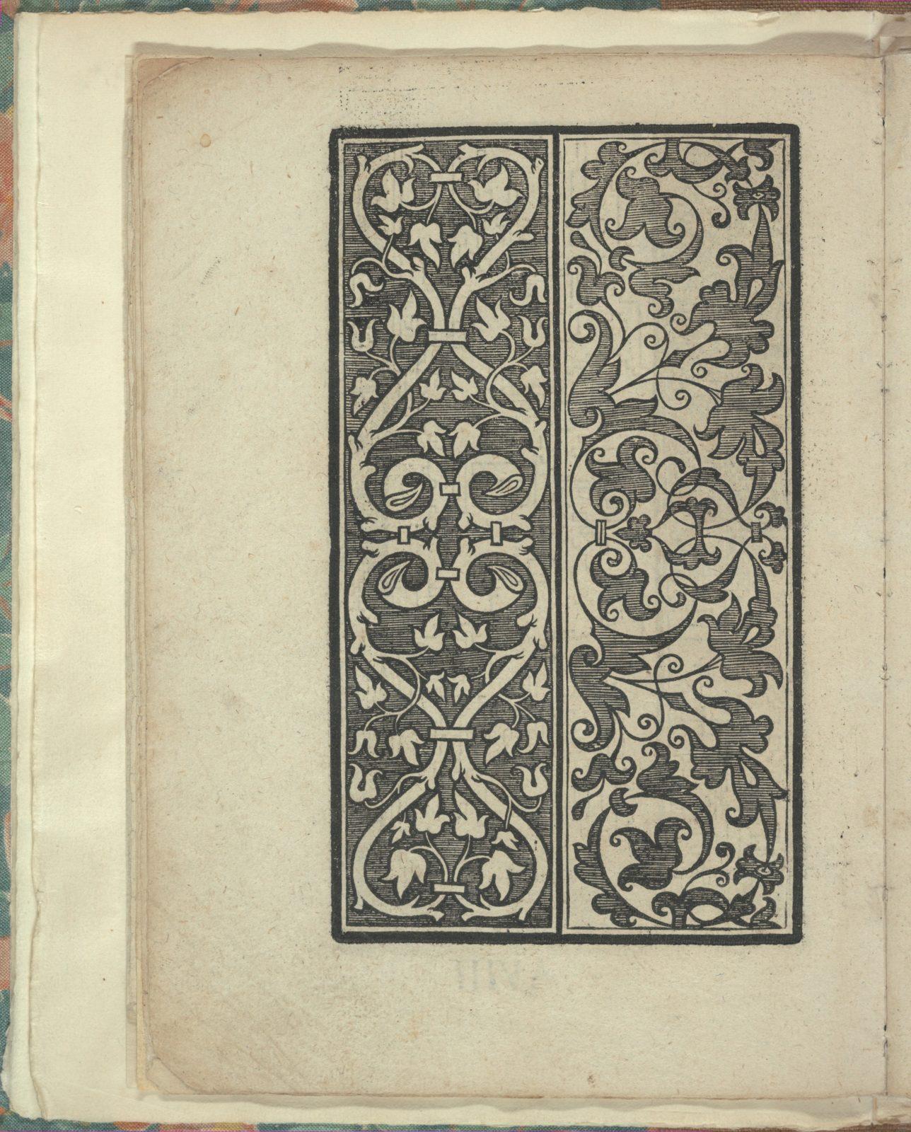 Opera Nova Universali intitulata Corona di racammi, page 8 (verso)