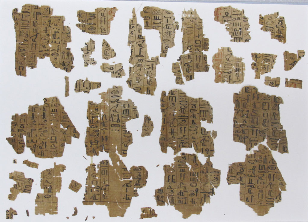 Papyrus fragments from the Book of the Dead of the Scribe Roy