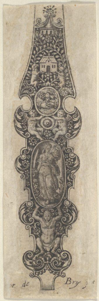 Pendant Design with Judith Holding the Head of Holofernes, from Des Pendants de Cleffs pour les Femmes