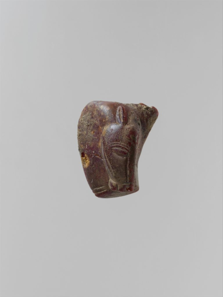 Pendant: head and neck of a horse