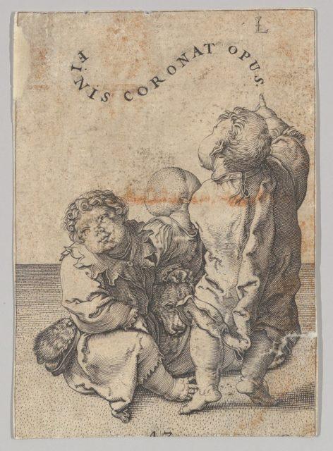Poet Virgil Suspended in a Basket, detail (copy)