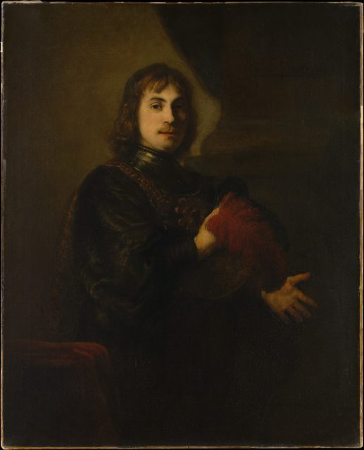 Portrait of a Man with a Breastplate and Plumed Hat