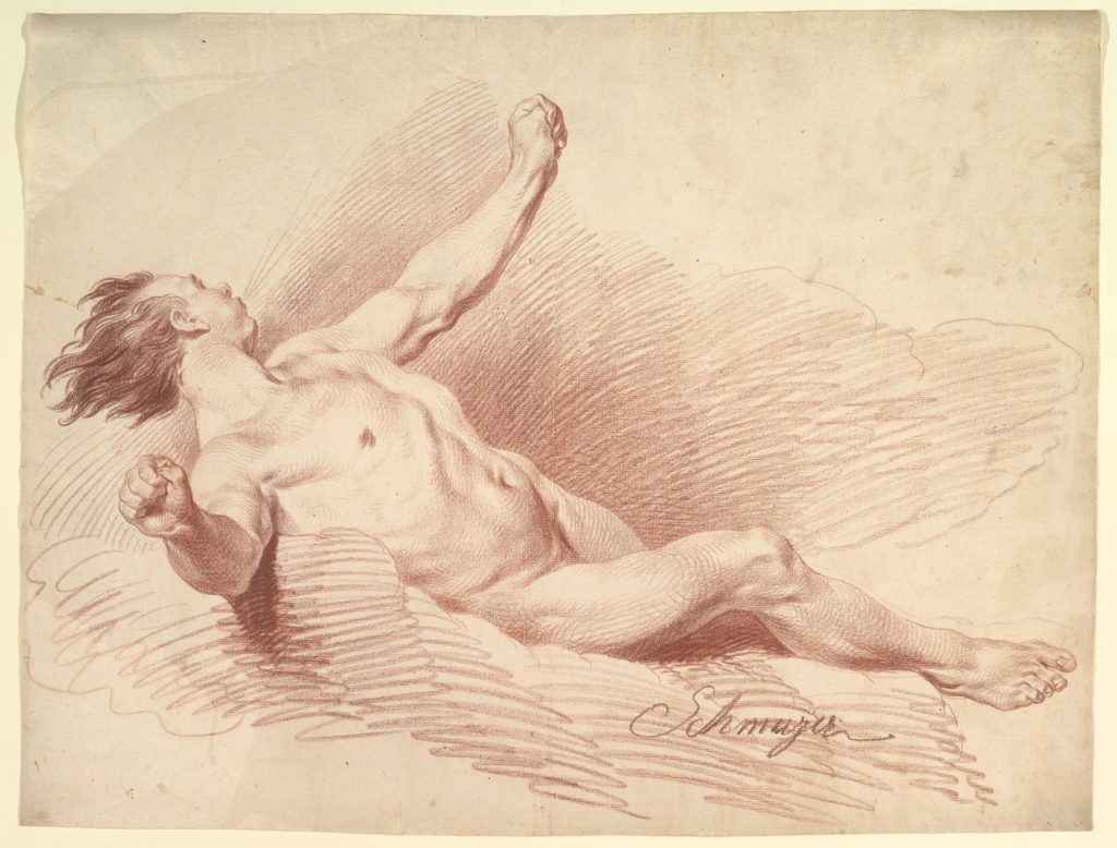 Hawaii conte crayon drawing painting reclining male nude snowden hodges