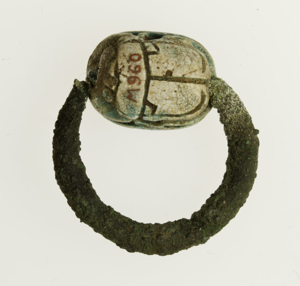 Ring with scarab bezel