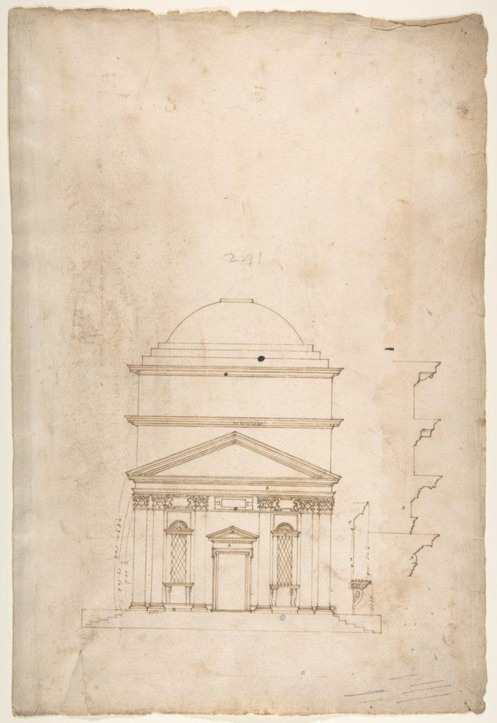 S. Andrea via Flaminia, elevation (recto) blank (verso)