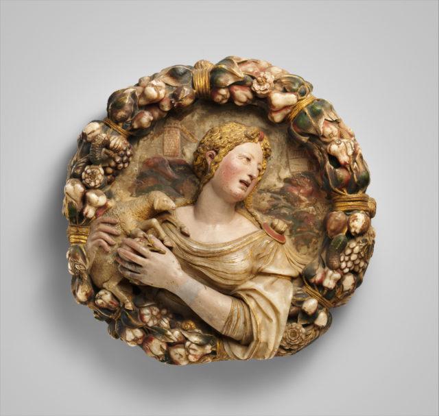 Saint Agnes (one of a pair)