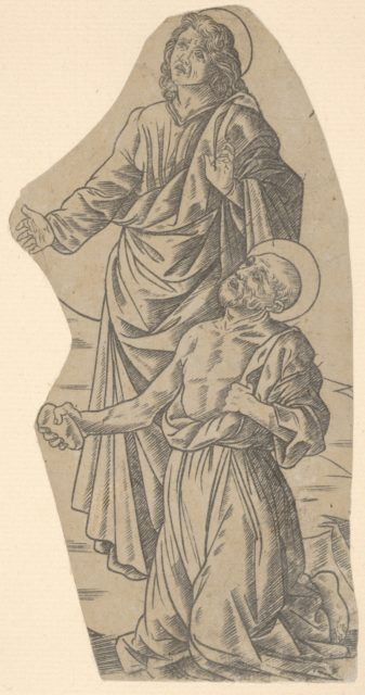 Saint John and Saint Jerome (fragment from a Crucifixion)