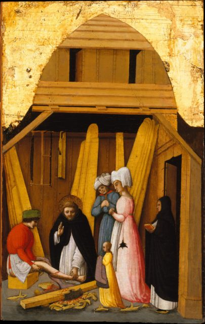 Saint Peter Martyr Healing the Leg of a Young Man