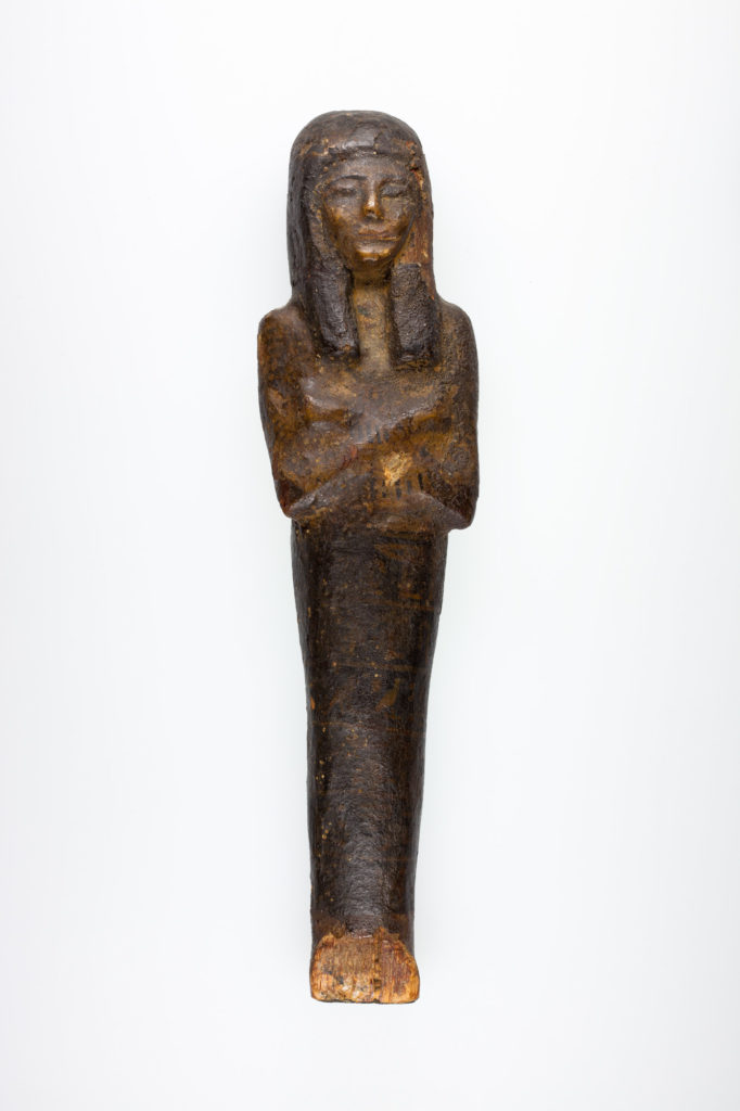 Shabti with horizontal bands of inscription