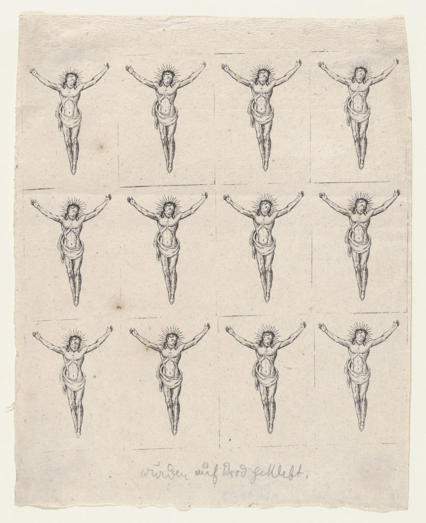 Sheet of Twelve Crucified Christs
