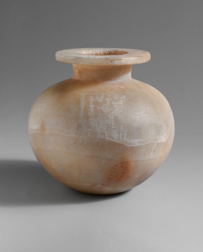 Spherical Jar Inscribed with Hatshepsut's Titles as Queen