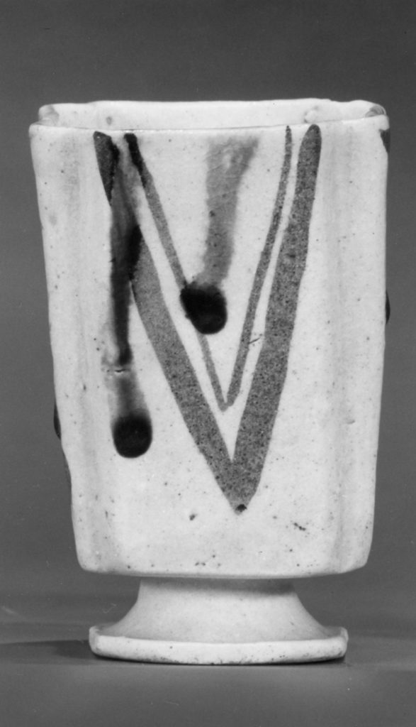 Squared Food Vessel with Stem