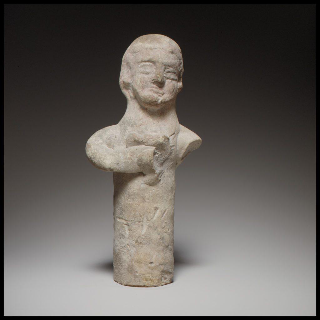 Standing male(?) figurine