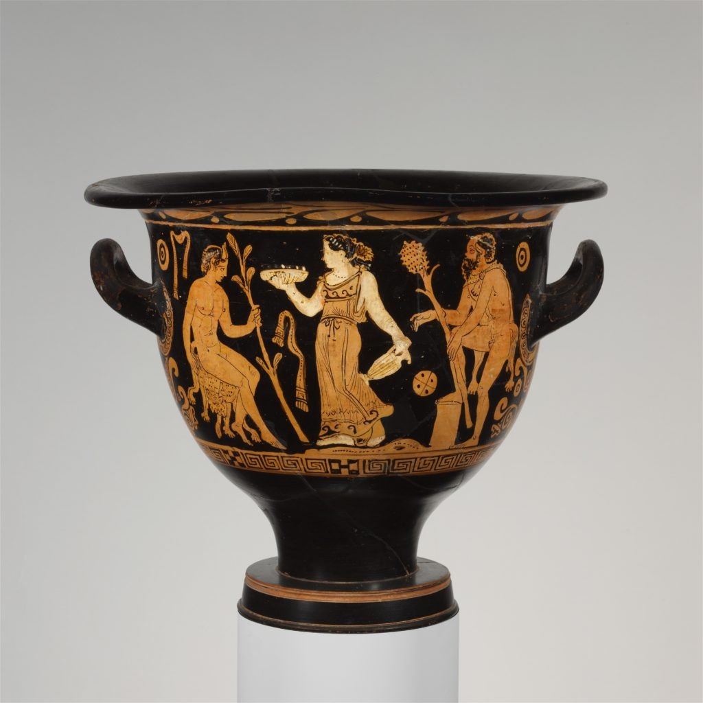 Terracotta bell-krater (mixing bowl)