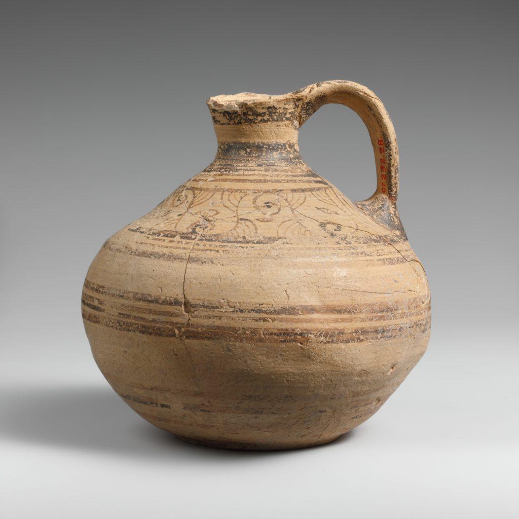Terracotta globular jug