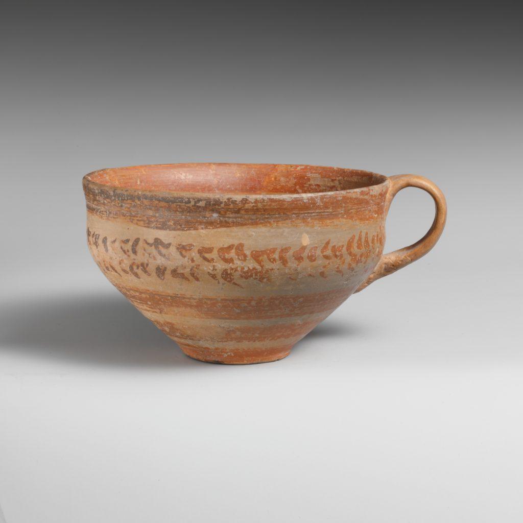 Terracotta hemispherical cup