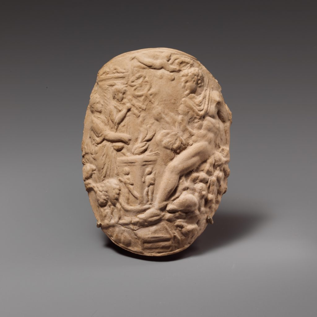 Terracotta mold for a relief applique