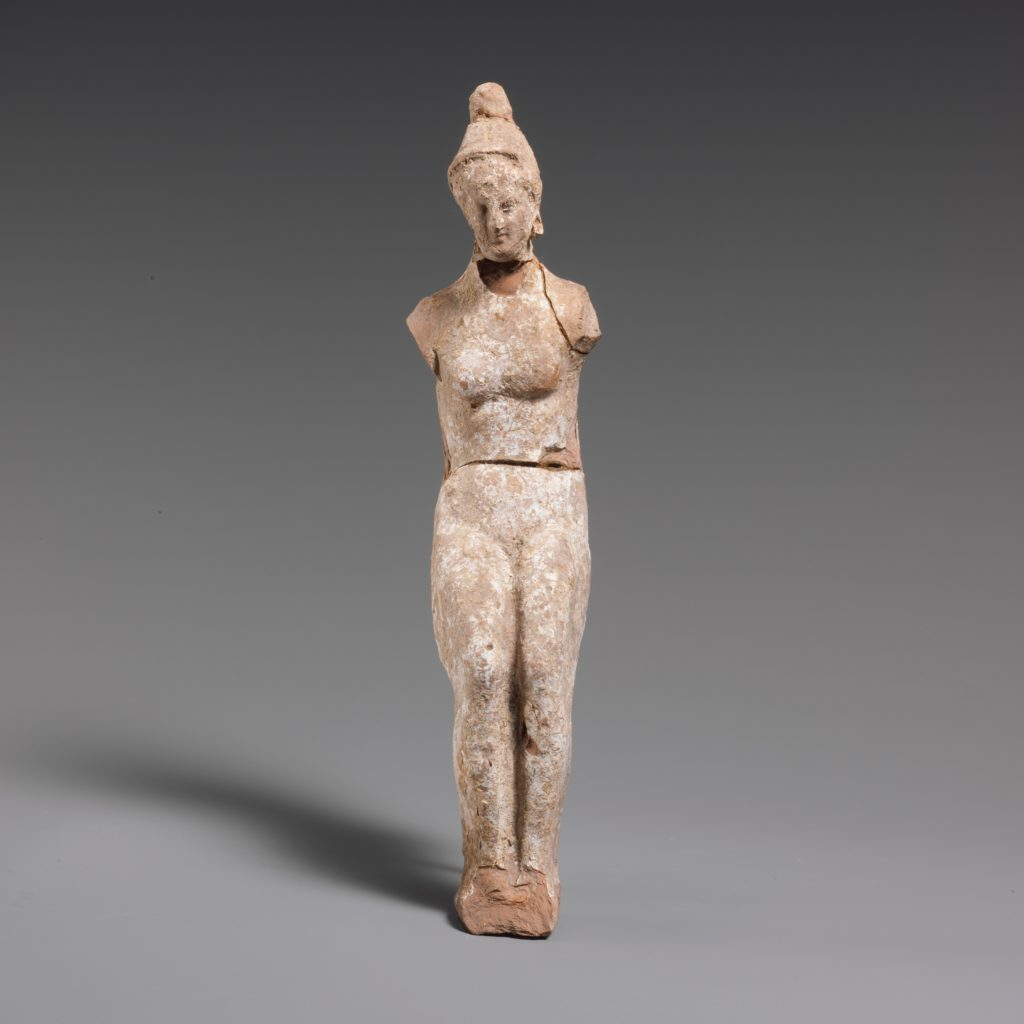 Terracotta statuette of a doll