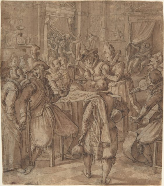 The Prodigal Son Squanders his Fortune with Prostitutes