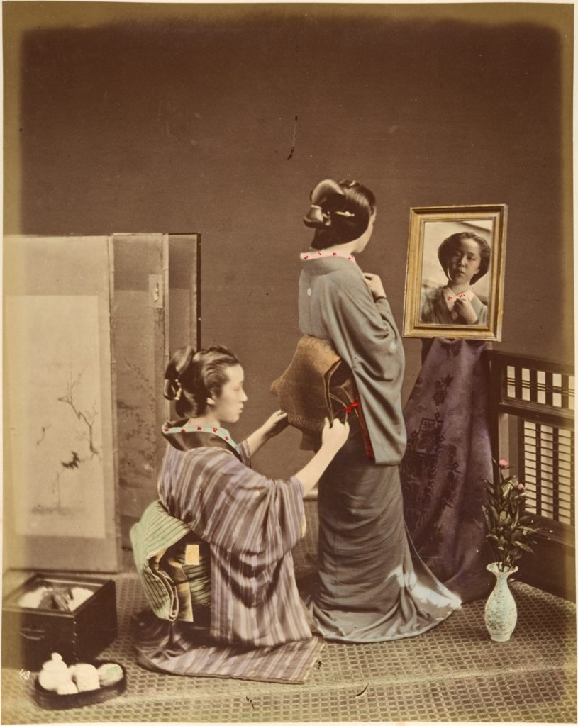 [Two Japanese Women in Traditional Dress]
