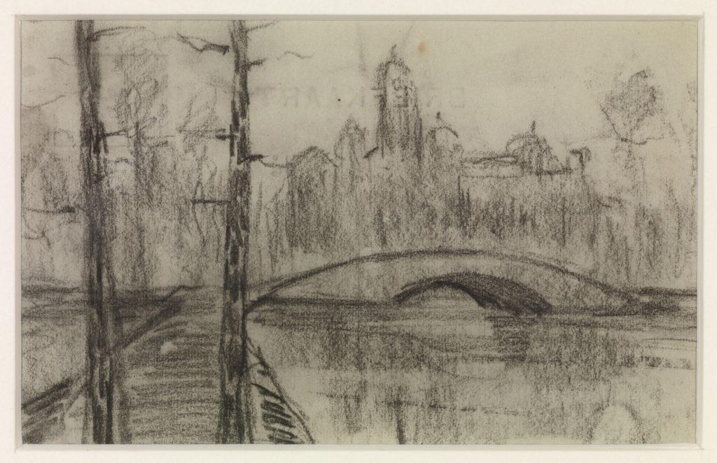 Untitled (River Landscape with Bridge)