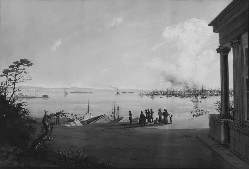 View of the City of New York and Governors Island Taken from Brooklyn Heights on the Morning after the Conflagration