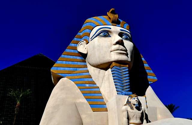 Great Sphinx of Giza, Luxor Hotel. Las Vegas.