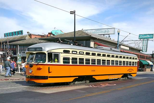 Historic Streetcars in San Francisco No.1059.
