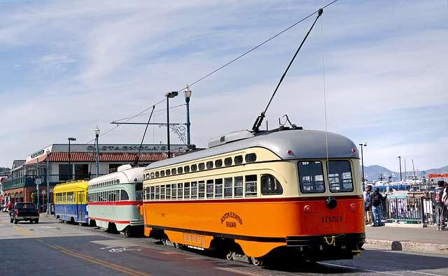 San Francisco's historic streetcars.
