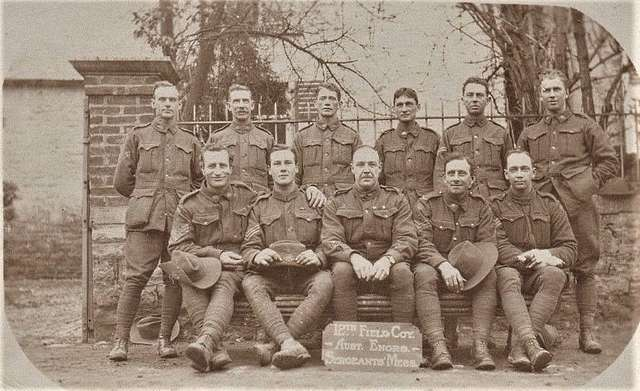 12th Field Company, Australian Engineers, Sergeants Mess - WW1