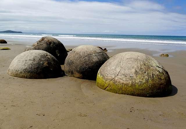 Moeraki Boulders Otago. NZ