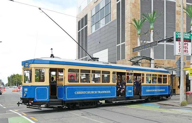 Tram no 1888 Christchurch.