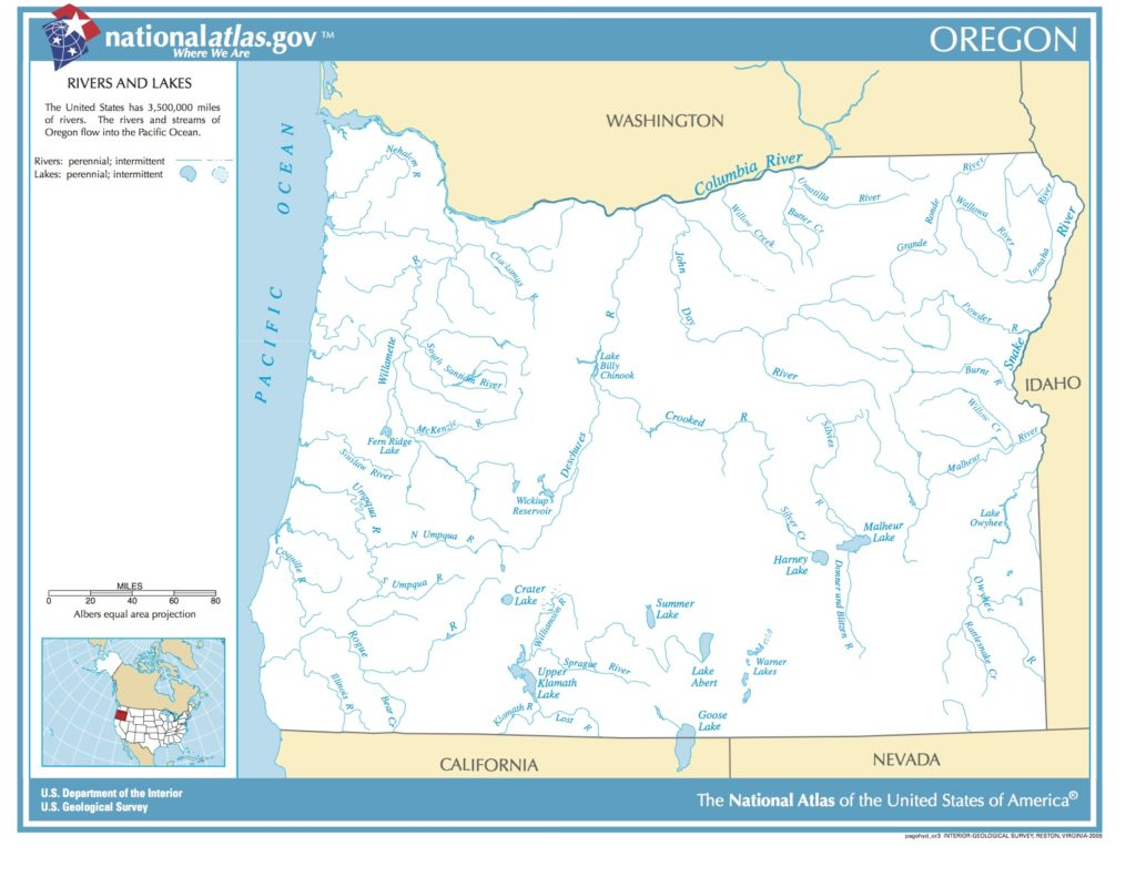 map of oregon rivers and lakes Map Of Oregon Rivers And Lakes Picryl Public Domain Image map of oregon rivers and lakes