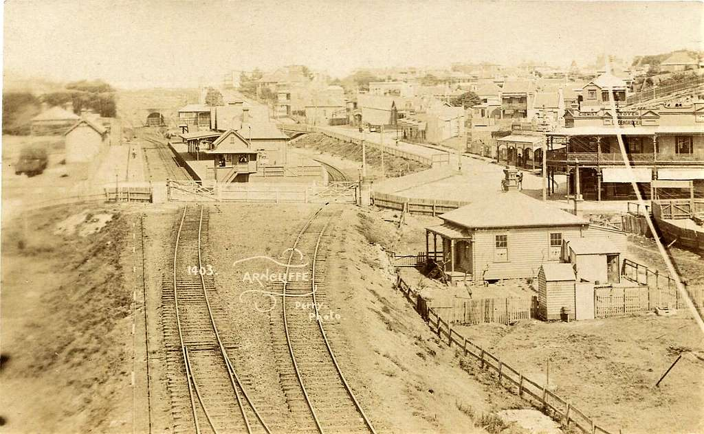 Arncliffe Railway Station, Sydney, N.S.W. - very early 1900s