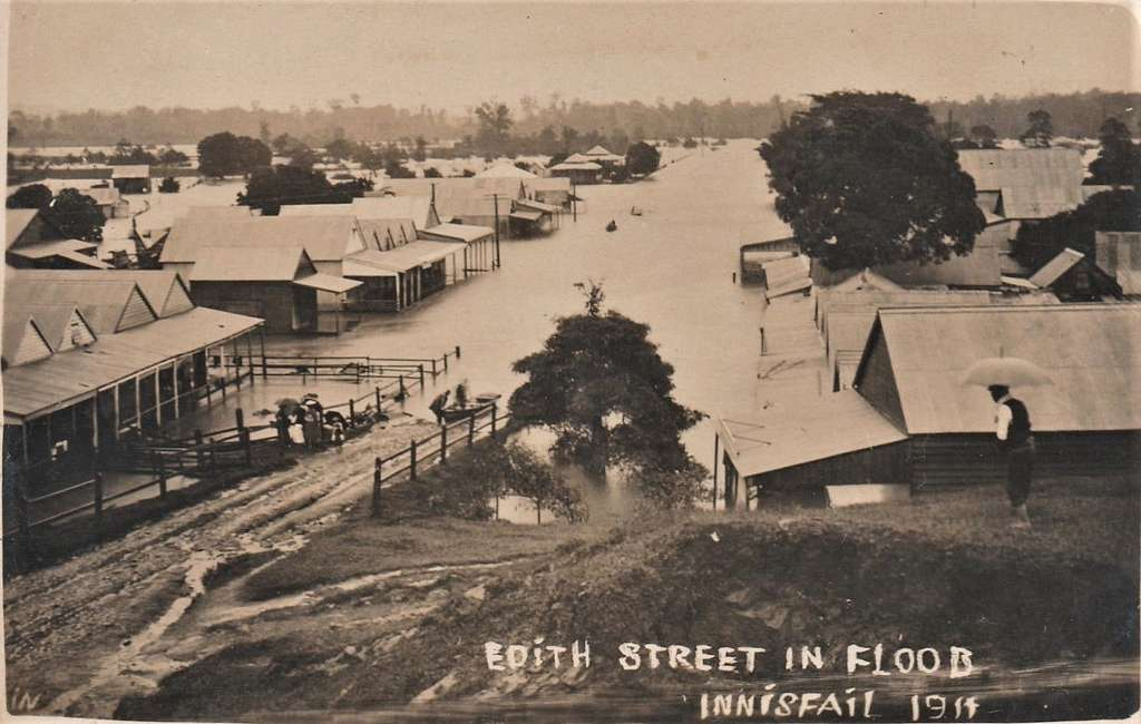 Flood in Edith Street, Innisfail, Qld -  1911