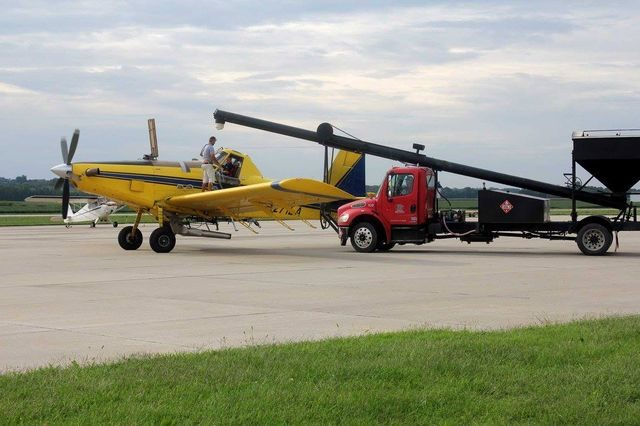 Day 4 Air Tractor takes on fertilizer at Schenck Field