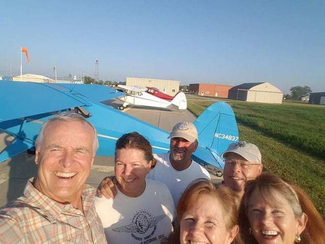 Mike &Terri Polley, Suzanne & Bob Cable, Chris & Jerri Bergen selfie at Gothersburg NE.