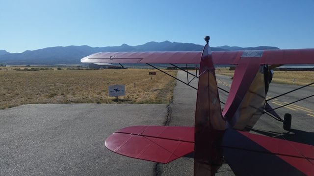 Taking off at Fillmore UT
