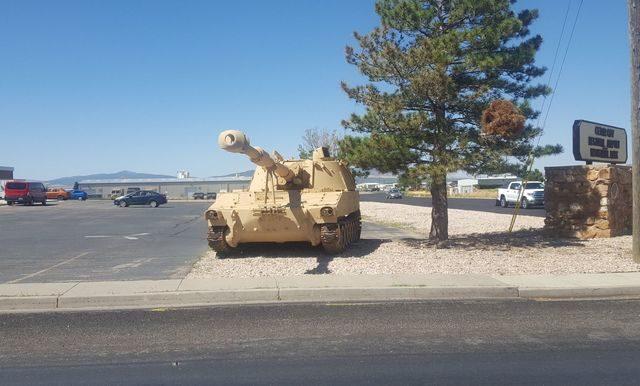 Tank Monument at Cedar City UT Airport