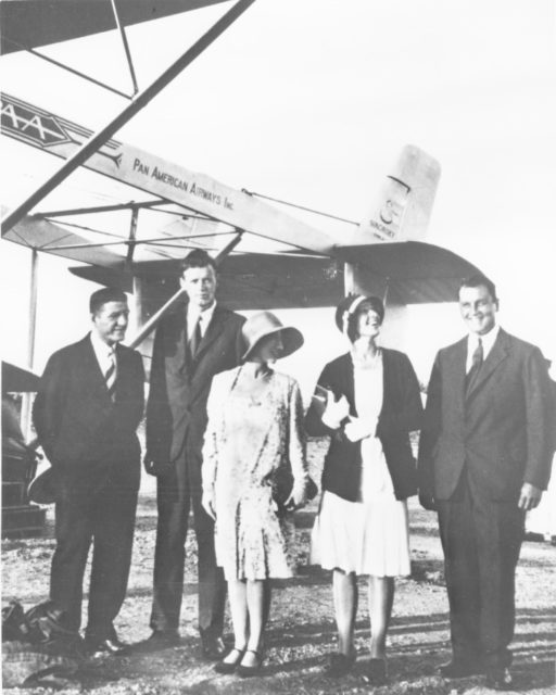 Charles and Anne Morrow Lindbergh with Sikorsky S-38 of Pan American AL