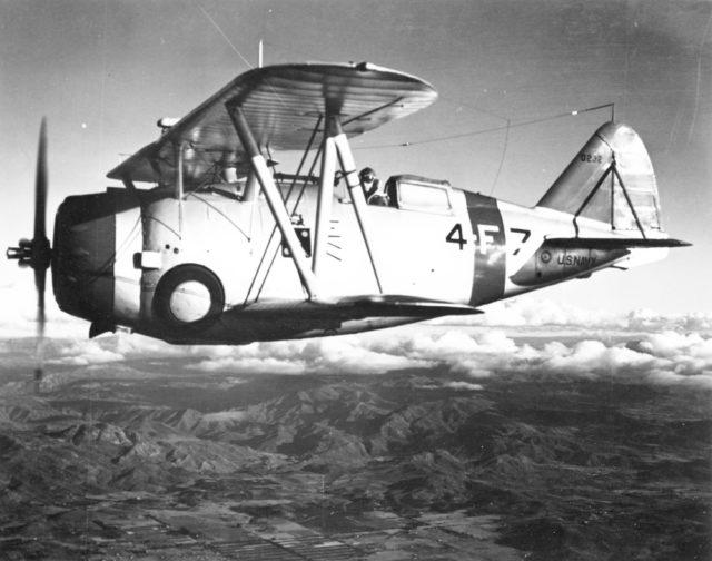 Grumman F3F-1 0232 VF-4 4-F-7 13Jan39 NARA 80-G-414446 [via RJF]