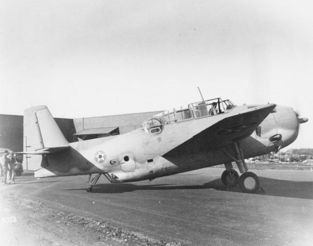 Grumman XTBF-1 2540 1941 mfr 8313 [GHC via RJF]