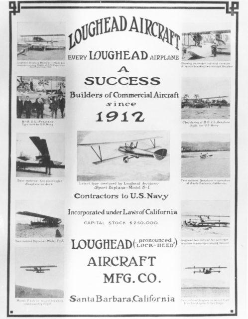 Loughead advertisement 1920 [Lockheed LA 1384 via RJF]