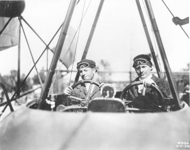 Malcolm and Allan Loughead [L-R] in F-1 1918 [Lockheed WB 885 via RJF]
