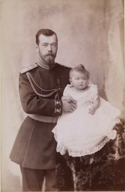 Emperor of Russia Nicholas II and daughter