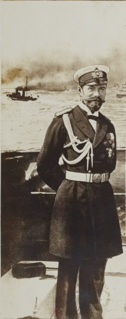 Emperor of Russia Nikolai II in navy uniform