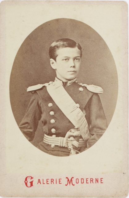 Future Emperor of Russia Nikolay II child portrait