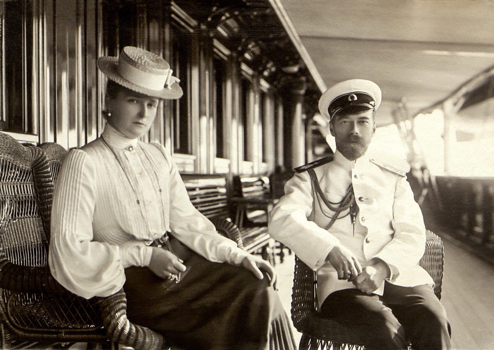 Nicholas II and Alexandra Feodorovna on Yacht Standard