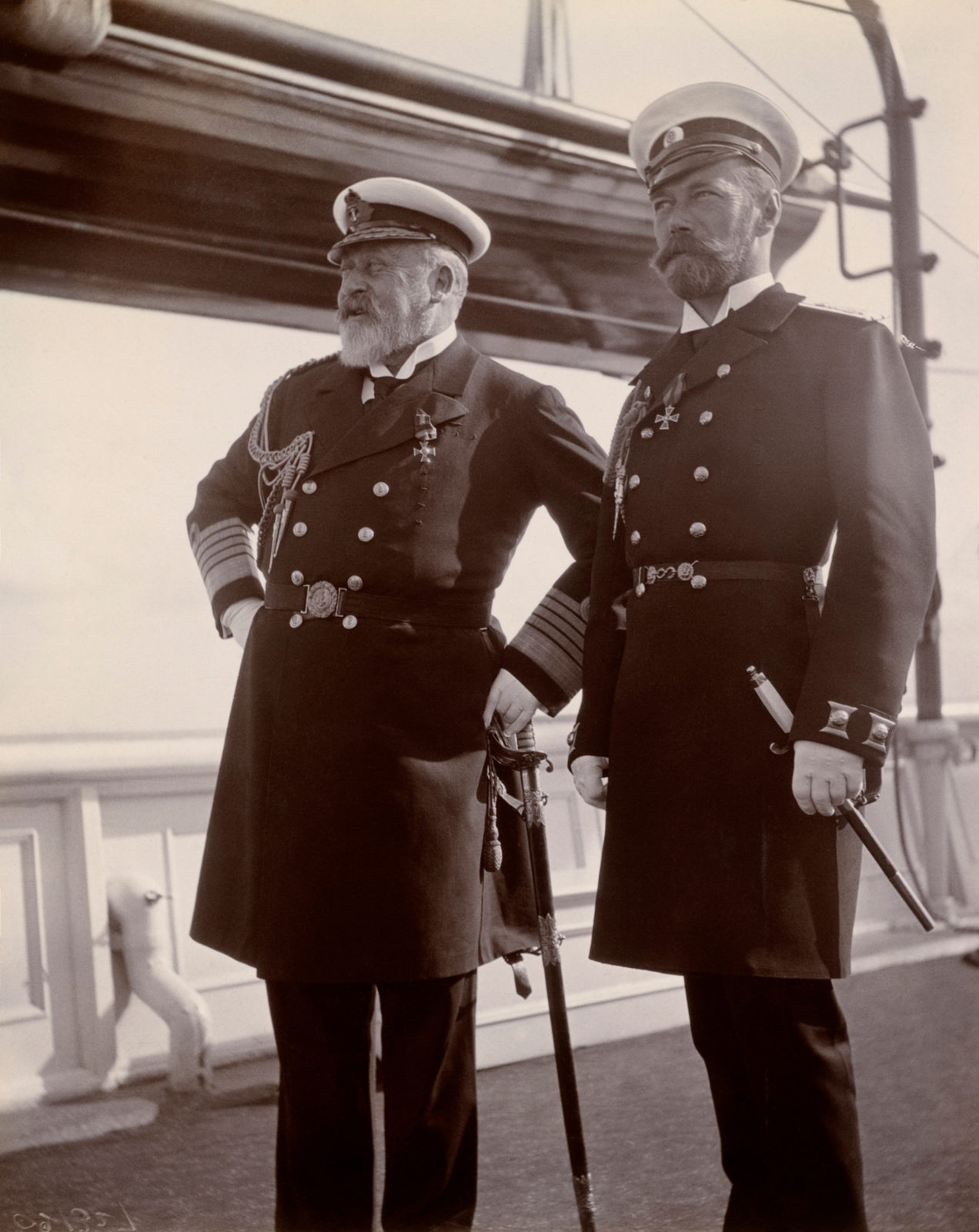 Emperor Nicholas II and King Edward VII . June 1908