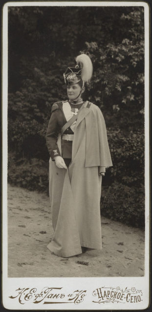 Empress Alexandra Feodorovna in hussar uniform